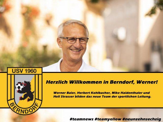 Herzlich Willkommen in Berndorf, Werner!