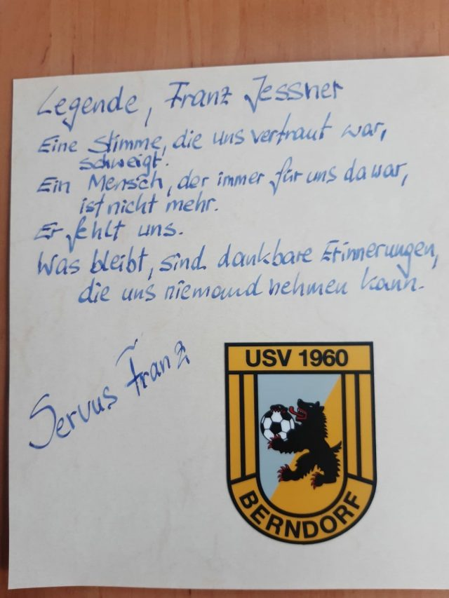Franz Jessner – eine schwarz-gelbe Legende ist nicht mehr!
